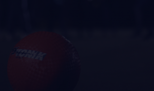 A photo of a red dodgeball is visible and there is a dark overlay over the image.